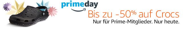 Crocs ab 13,99€ für Kinder, Damen & Herren beim Amazon Prime Day
