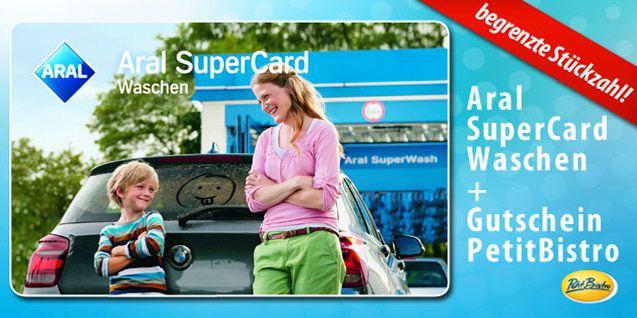 aral gs 2 Autowäschen bei ARAL (je 15€) + 2 Petit Bistro Gutscheine für 27,99€