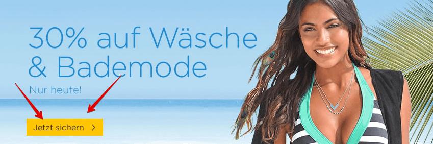 BAUR: 30% Extra Rabatt auf Bademode & Wäsche   NUR HEUTE