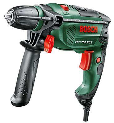 Bosch PSB 750 RCE   Schlagbohrmaschine mit Tiefenanschlag & Zusatzhandgriff für 58,99€ (statt 73,50€)