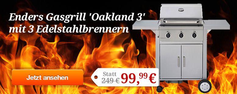 Enders Oakland 3 Gasgrill für 101,04€ (statt 240€)