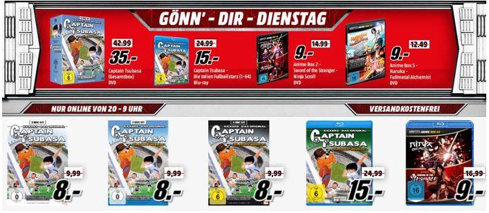 günstige Anime Boxen Captain Tsubasa und AnimeBoxen heute günstig als Media Markt Dienstag Sale