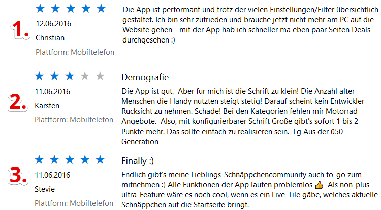 gewinner win Neue Mein Deal.com Windows Phone App testen und Preise gewinnen