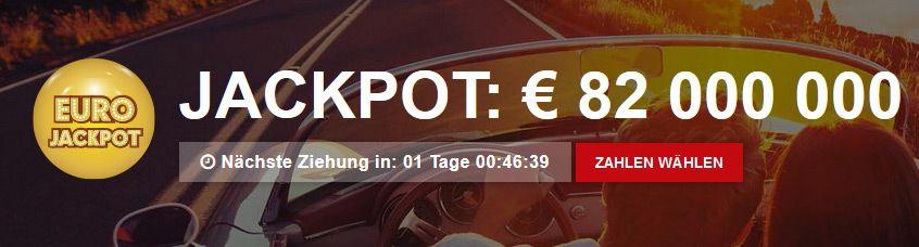 jackpot Lottopalace: 1 Eurojackpotfeld + 40 Rubbellose für 2,50€   Bis zu 82 MIO EUR GEWINNEN