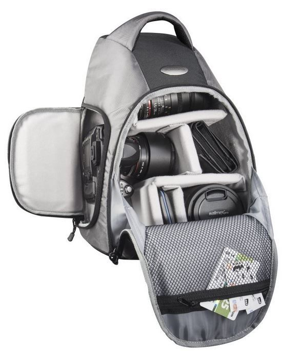 mantona Miami   Fotorucksack mit variabler Innenaufteilung für 24,90€