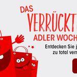 Verrücktes ADLER-Wochenende – 50% Rabatt auf ausgewählte Ware