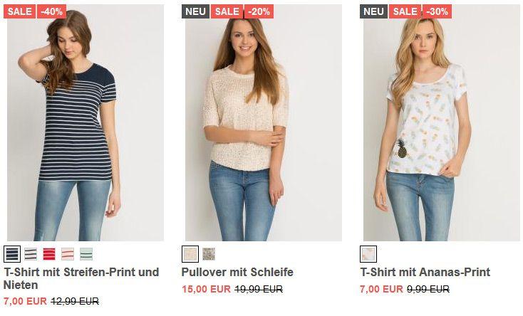 Orsay: 20% Rabatt auf ALLE T Shirts und Blusen