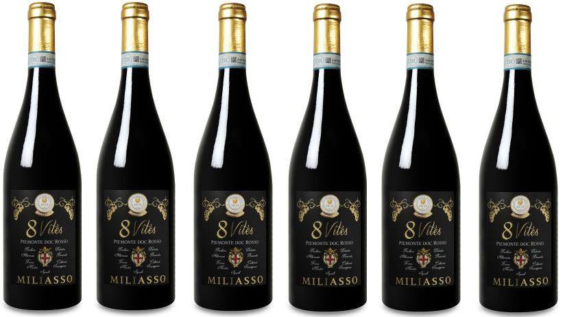 piemonte rosso 6 Flaschen Miliasso – 8 Vites – Piemonte DOC Rosso für nur 34,89€ inkl. Versand