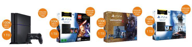 ps4 saturn 100€ Sofort Rabatt auf Playstation 4 und Bundles bei Saturn