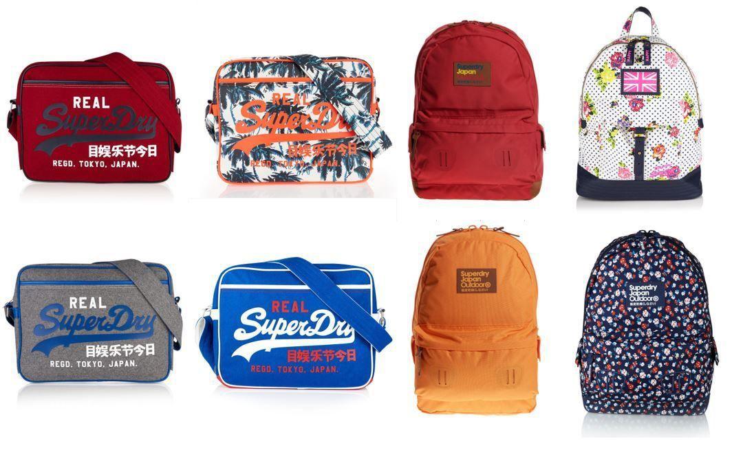 Superdry Taschen   viele Modelle und Farben für je 17,95€
