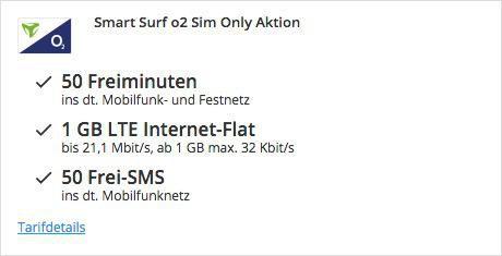 thumb.php 9 o2 Smart Surf mit 50 Min, 50 SMS & 1GB für eff. 2,99€ monatlich