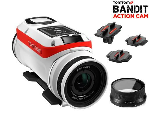 tomtom bandit 4k action cam extra zubehr TomTom Bandit 4K Action Cam & extra Zubehör für 205,09€ (statt 240€)