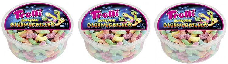 trolli sauer AUSVERKAUFT   3kg Trolli saure Glühwürmchen für 9,99€ inkl. Versand