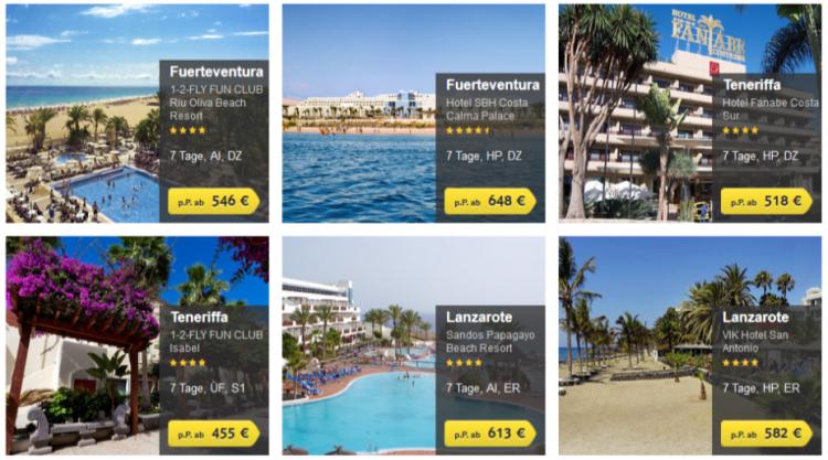 TUI Gutschein mit 100€ Rabatt auf Kanarenpauschalreisen