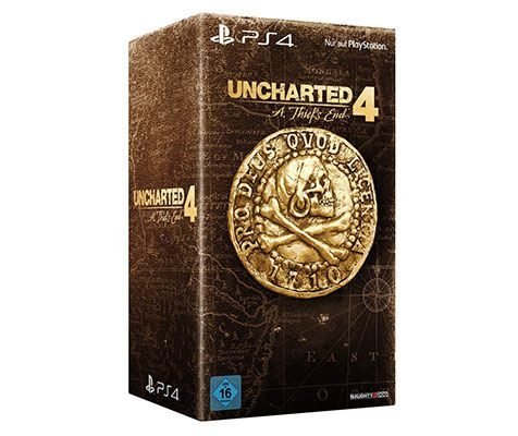 uncharted 4 box Uncharted 4: A Thiefs End   Libertalia Collectors Edition   PS4   für 79,97€ (statt 105€)