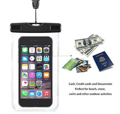 wasserhuelle VicTsing Wasserdichte Hülle für alle Smartphones bis 5,5 Zoll für 5,99€ (statt 11€)