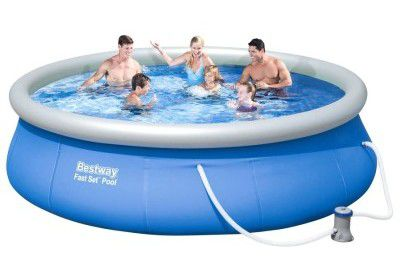 Bestway Fast Set Pool Set 396cm inkl. 40W Filterpumpe für 68€