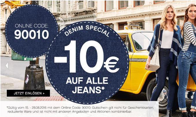 10€ Jeans Rabatt ORSAY mit 10€ Sofort Rabatt auf reguläre Damen Jeans!