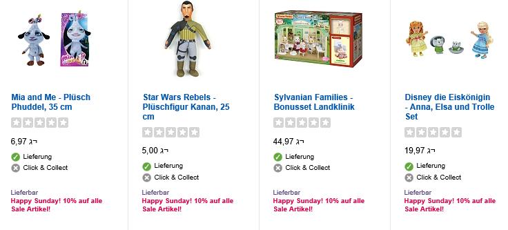Restposten Sale bei ToysRus + 10% Extra Rabatt