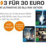 3D Blu-rays: 3 für nur 30€ bei Saturn