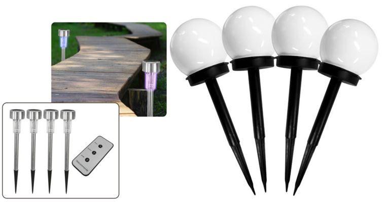 4er Set Solar LED Lampen Green World LED   4er Set Solar LED Leuchten für 14,99€