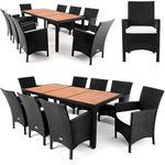 Deuba24 Poly Rattan 17-teilige Sitzgruppe für 341,96€ (statt 405€)