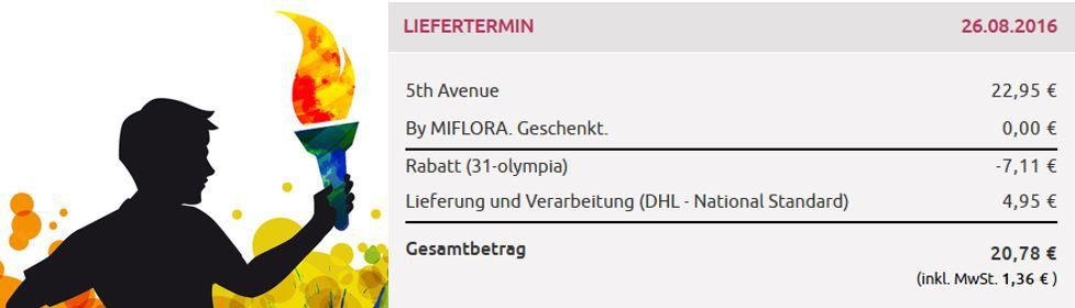 Blumenstrauß 5TH Avenue für nur 20,78€   dank 31% Miflora Rabatt Aktion heute