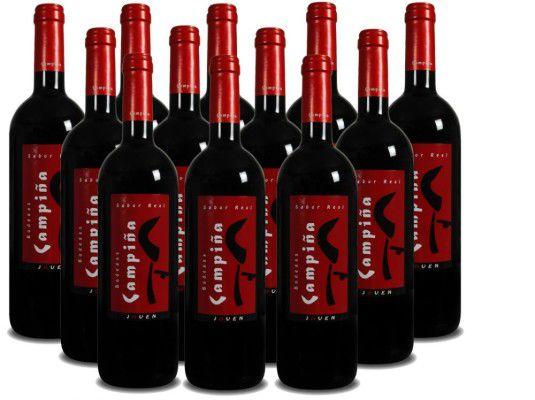 12 Flaschen Bodegas Campiña Rotwein für 65€ (statt 81€)