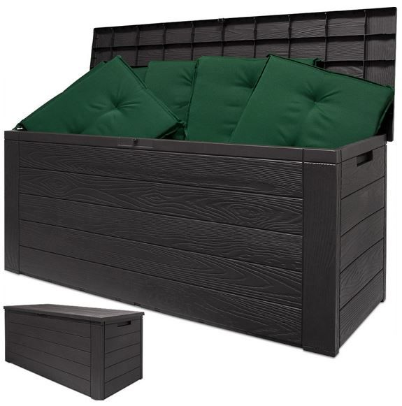 Auflagen Box in Holz Optik Auflagenbox 120cm in Holzoptik für 29,95€