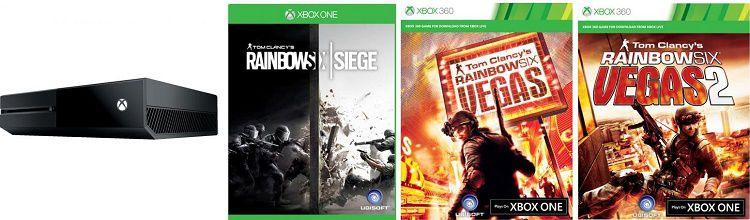 Xbox One 1TB + Rainbow Six Siege + Rainbow Six Vegas + Vegas 2 für 224€ (statt 269€)