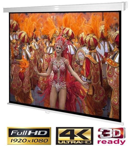 Beamer Leinwand Videoprojektor24: NoName Beamer Rollo 200 x 200cm (4K, 3D) für 52,90€