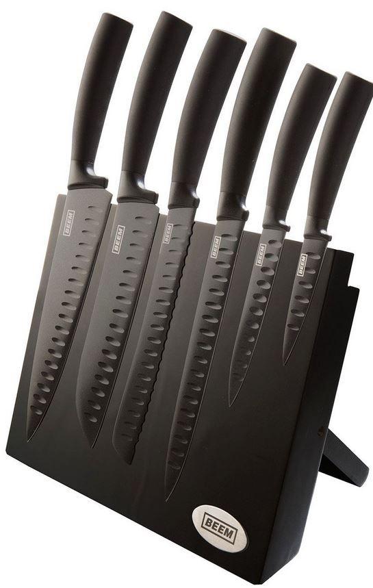 BEEM Barracuda   7 teil. Ceramic Messer Set mit magnetischem Block statt 47€ für 34,99€