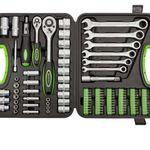 STARKMANN Greenline – 104 Teile Steckschlüssel & Gabelschlüssel Set für 39,99€ (statt 50€)