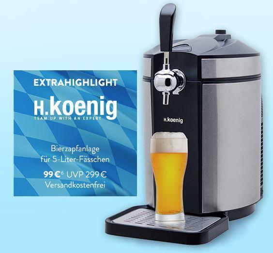 H.KOENIG BW1880   Bierzapfanlage für 139,90€ (statt 169€)