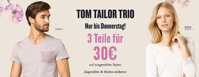 Tom Tailor Trio   3 Teile für nur 30€