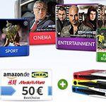 Sky ab 16,99€ mtl. + 2 Monate gratis + Fan-Receiver + 50€ Gutschein