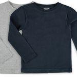 10er Pack Kinder-Basic Langarmshirts für 23,70€