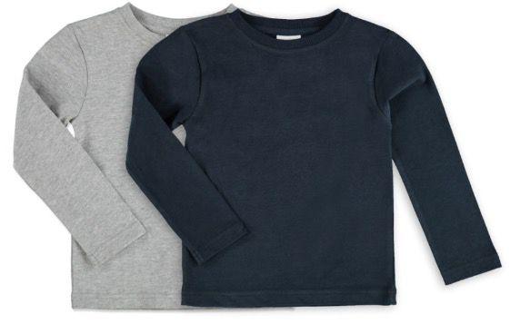 10er Pack Kinder Basic Langarmshirts für 23,70€