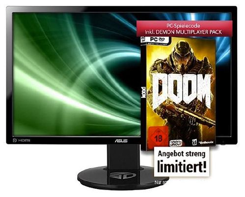 Asus VG248QE   24 Zoll Gaming Monitor für 239€ + Doom (PC) gratis