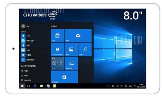 Chuwi Hi8 Pro   8 Zoll Full HD Tablet mit Dual Boot (Win 10 + Android) für 77,66€