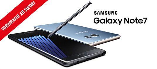 Samsung Galaxy Note 7 Tarife in der Übersicht