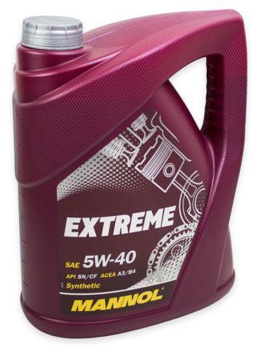 4 Liter Mannol Extreme HC Synthese 5W 40 Motoröl für 11,95€ (statt 17€)