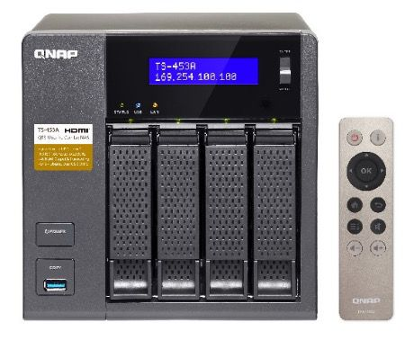 QNAP TS 453A 4G NAS mit 4GB Ram + Fernbedienung für 399€ (statt 492€)