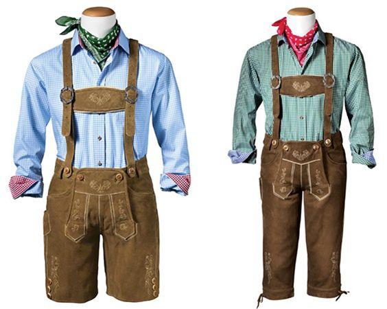 Gweih & Silk Herren Trachten Set (Lederhose, Hemd & Tuch) für 189€