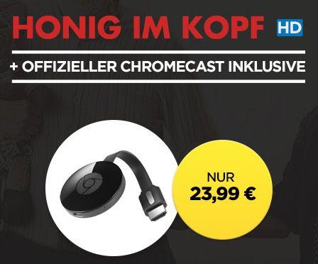 Google Chromecast 2 (2015) + Honig im Kopf HD Stream für 23,99€