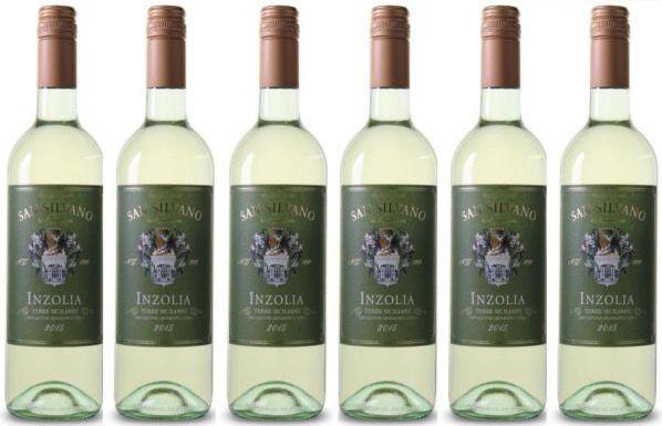 6 Flaschen San Silvano Inzolia Terre Siciliane Weißwein für 28,89€
