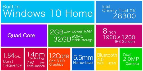 Teclast X80 Pro   8 Zoll Full HD Tablet mit 32GB & Dual Boot für 63,47€