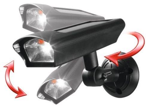 Solar LED Sicherheitsstrahler in Kamera Optik für 9,99€ (statt 15€)