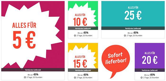 Discount Mania Aktionen in der Zalando Lounge   z.B. Klamotten für nur 5€