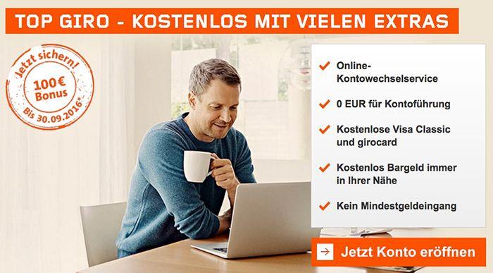 Bildschirmfoto 2016 08 20 um 10.08.15 Dauerhaft kostenloses Wüstenrot Girokonto + gebührenfreie Visa + 100€ Prämie